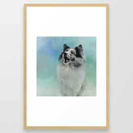 Something To Say Framed Art Print