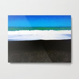 Napier Waves Metal Print