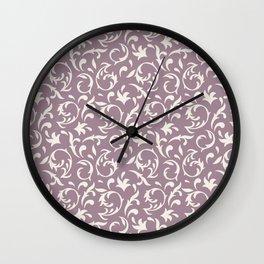 Decorative Pattern in Light Lavender an Cream Wall Clock