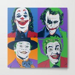 Joker Pop Art Metal Print
