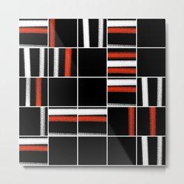 Zen tartan Metal Print
