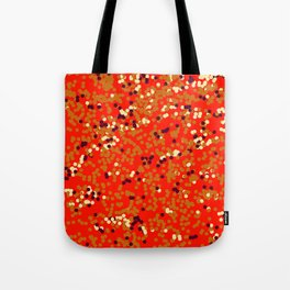 dots on red Tote Bag