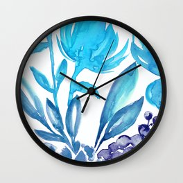 Abstract floral & square #5 Wall Clock