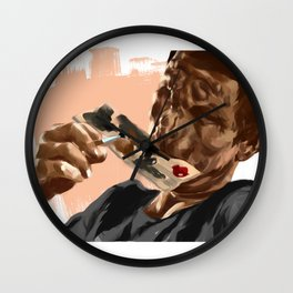 Lonely Painter Illustration Wall Clock