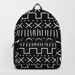 Black Mud Cloth Backpack