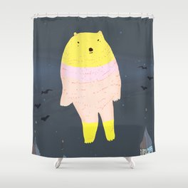 The Ghost Bear of The Tower Of London Shower Curtain