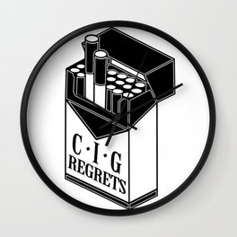 Cig-regrets Wall Clock