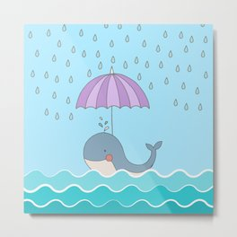 Swimming Whale #art #homedecor #society6 Metal Print