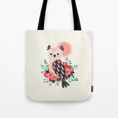 Owl and Blossoms Tote Bag