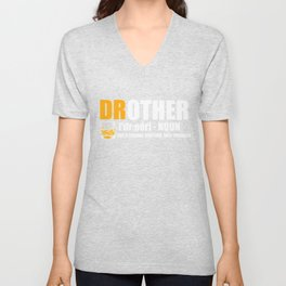 Brother Drunk Cool Drother funny gift Unisex V-Neck