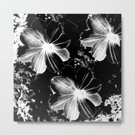Black Flowers Metal Print