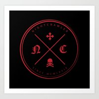 nightcrawler Art Prints featuring Nightcrawler Logo by Nightcrawlerstuff