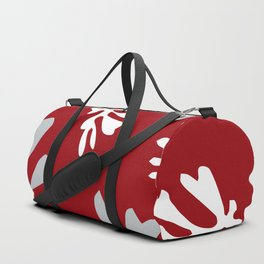 Matisse Silver & Red Holiday Leaves Duffle Bag