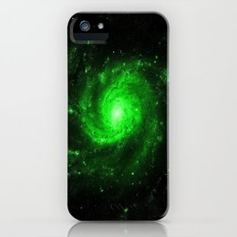 Spiral gAlaXy. Green iPhone Case