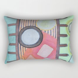 Trapped between two Worlds Rectangular Pillow