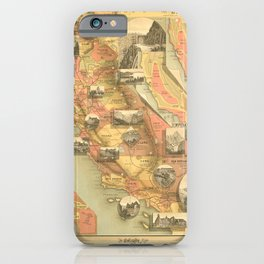 Vintage Map of California iPhone Case