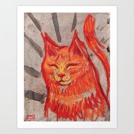 Tangerine Bowie Art Print