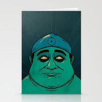 watchmen Stationery Cards featuring It's Always Sunny in Watchmen - Frank by Jessica On Paper