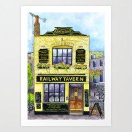 The Railway Tavern, Chelmsford Art Print