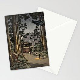 Tsuchiya Koitsu - Nikko Futarasan Temple - Japanese Vintage Woodblock Painting Stationery Cards