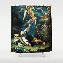 The horror! Shower Curtain