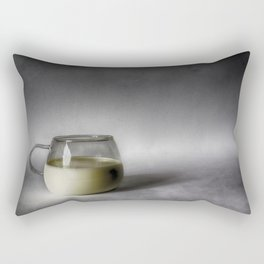 Still life with a cup of milk Rectangular Pillow