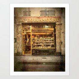 La Boulangerie Paris Art Print