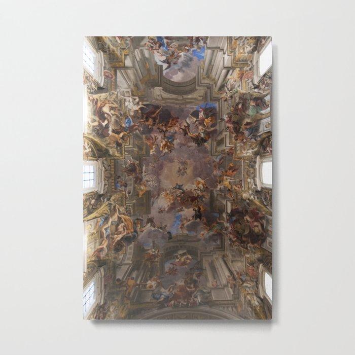 Sant'Ignazio Church, Rome Metal Print