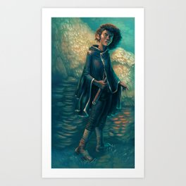 The Girl in Black Art Print