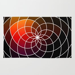 Dark Kaleidoscope Rug