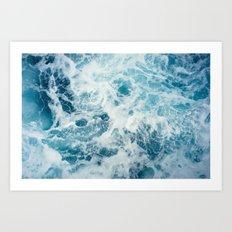 Sea Swirl Art Print
