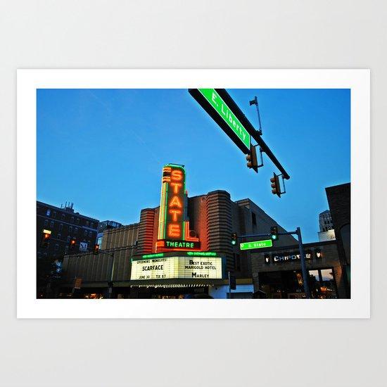 State Theatre, Ann Arbor Michigan Art Print