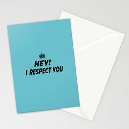 "I Respect you ""Blue"" Stationery Cards"