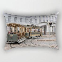 Helsinki Classic Tram Rectangular Pillow