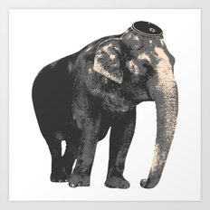 Elephant in Kippah Art Print