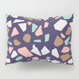 Colorful Modern Terrazzo Vector Pattern Pillow Sham