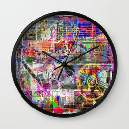 Some (More) Of That Olde Skool Bullmess (or, Four? Shit! That Ain't A Thing...) (Recombinant Series) Wall Clock