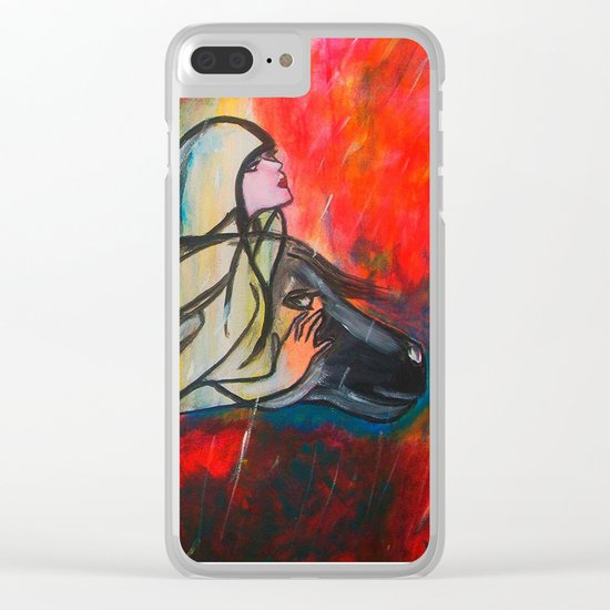 Chasing The Rain Clear iPhone Case