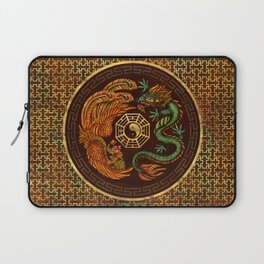 Phoenix and Dragon with bagua #1 Laptop Sleeve