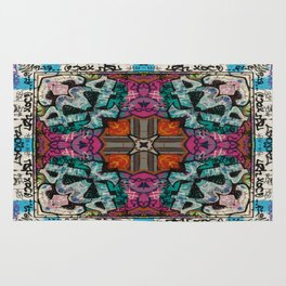 Street Art Kaleidoscope Rug
