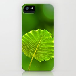 Bokeh Leaf iPhone Case