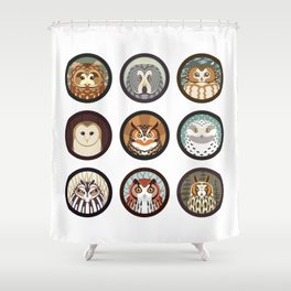 Owls of the Eastern United States Shower Curtain