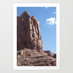 Desert Buttress Art Print