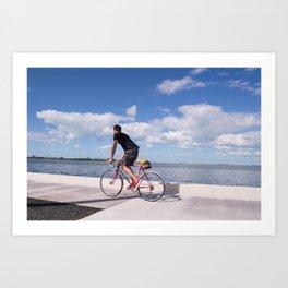 Bloke on Bike - Florida Keys Art Print