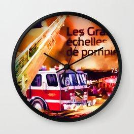 Burundi 2012 Fire Engines Souvenir Wall Clock