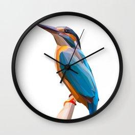 Kingfisher Bird Lowpoly Art Illustration Wall Clock