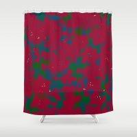 iggy azalea Shower Curtains featuring Azalea by Allison Holdridge