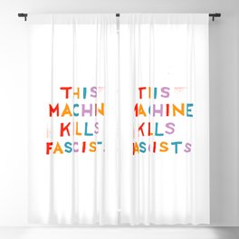 this machine kills fascists Blackout Curtain