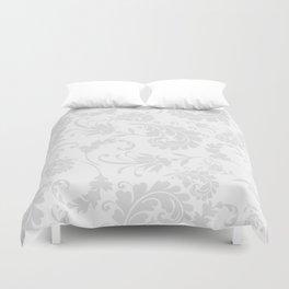 Vintage of white elegant floral damask pattern Duvet Cover
