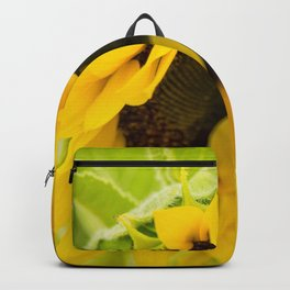 Summer Sunflower (Macro Photography) Backpack